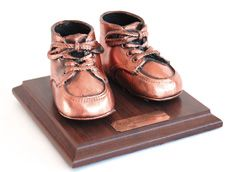Bronzed                                                            Baby Shoes
