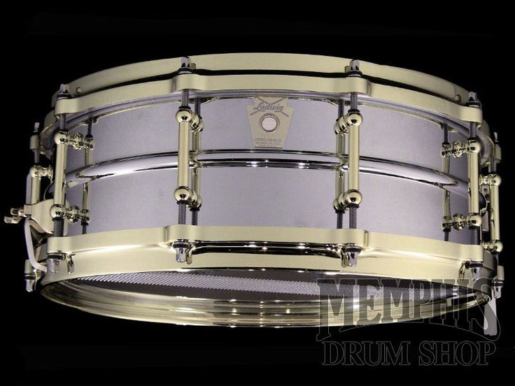 Ludwig 14 x 5 Chrome Over Brass Millennium Snare Drum (Old Badge)
