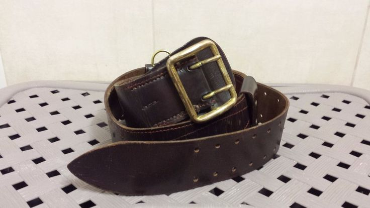 USSR Soviet Military Russian Red Army Leather Officer Belt PORTUPEYA 1963 Sale