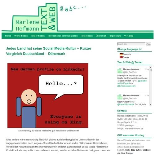 marlenehofmann.de/blog - Blog in German & Danish about web, media, museums in Germany & Denmark