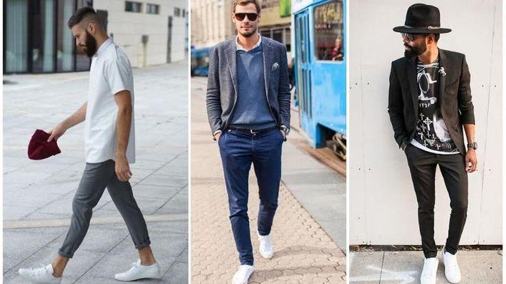 Białe buty w męskiej szafie Białe tenisówki, sneakersy czy trampki są doskonałą alternatywą kiedy możesz pozwolić sobie na przerwę od bardziej formalnego obuwia. Tej wiosny prawdopodobnie będziesz widywał je częściej na ulicy, gdyż są one jednym z głównych trendów, które zaproponowały domy mody. Są proste ponadczasowe, wygodne i uniwersalne. Możesz je łatwo zestawić z dżinsami czy chinosami. A jeśli wolisz bardziej awangardowe połączenia białe tenisówki możesz założyć do garnituru.