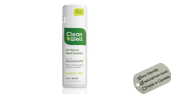 CleanWell Natural Hand Sanitizers - spray