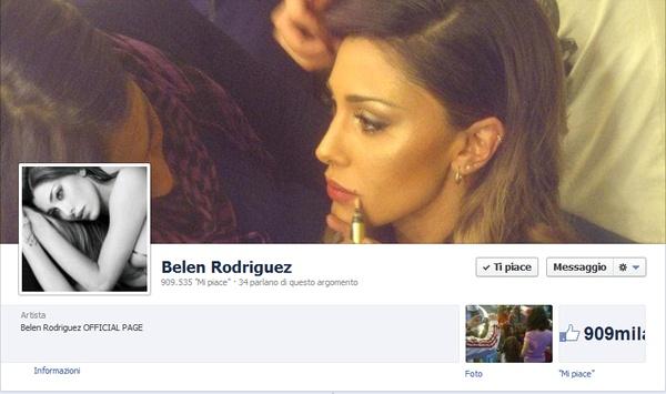 #Belen Rodriguez sparisce da #Facebook e poi ricompare: ecco il trucco della showgirl