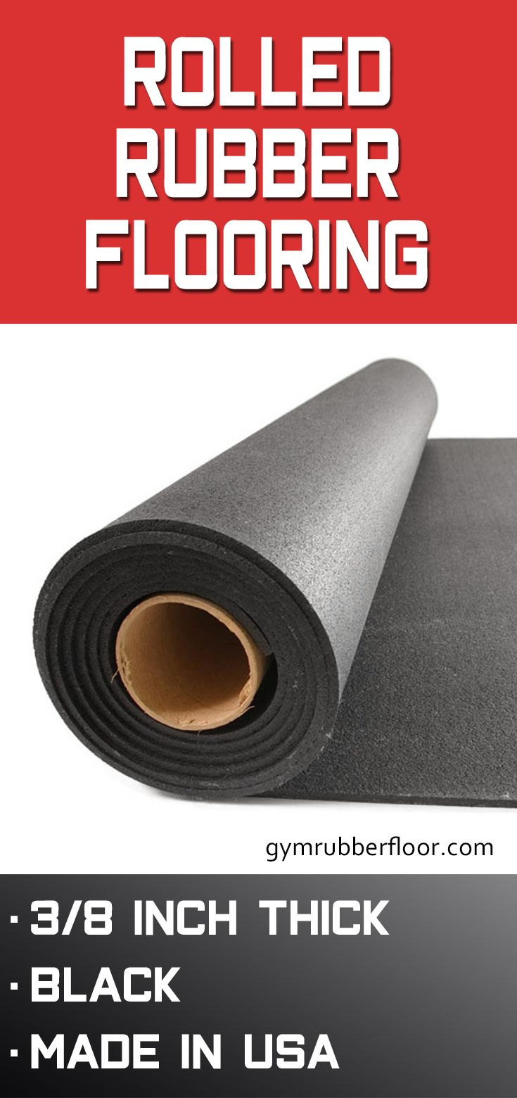 Gym Rubber Flooring Roll 3 8 In 25 Ft Black Stocked Rubber Flooring Rolled Rubber Flooring Flooring