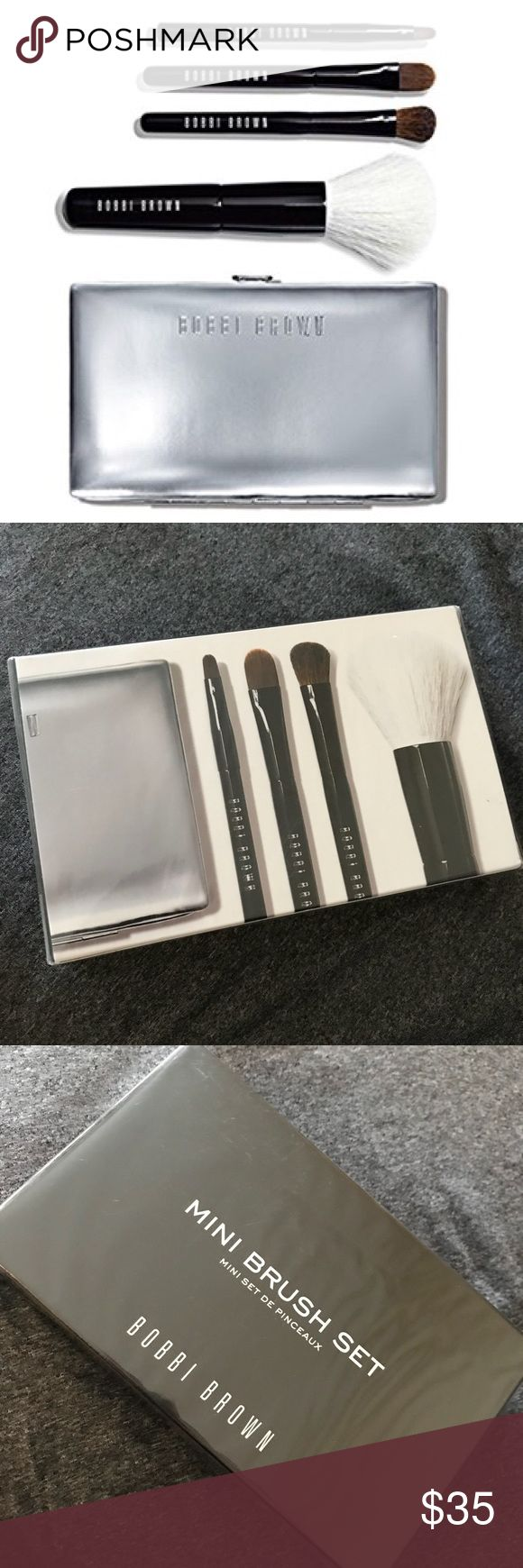 BNIB Bobbi brown mini brush set Authentic and brand new in box! Free shipping on bundles of 3 or more items 🤗✨ Sephora Makeup Brushes & Tools