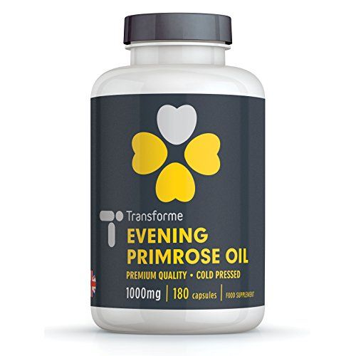 From 10.99 Evening Primrose Oil 1000mg - 180 Capsules - Cold Pressed - Transforme