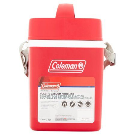 Coleman The Outdoor Company 2.11 qt Plastic Vacuum Food Jar, Red