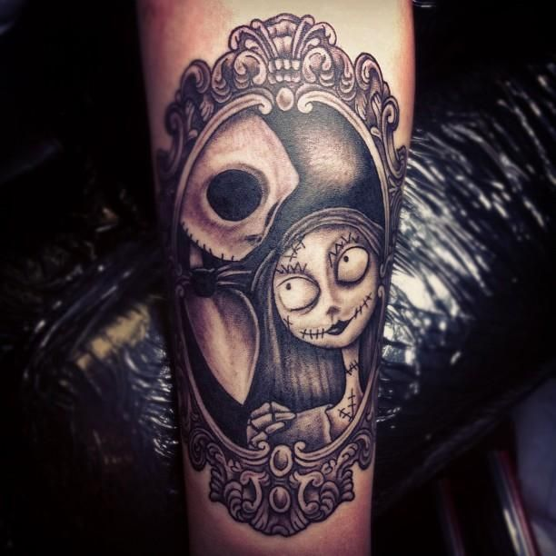 11 Spooky Halloween Tattoos   Mental Floss~~~~~~<3 Jack×Sally <3~~~~~~~~~-*•_-*•°_Simply meant to be•_-*•-*°•