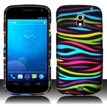 Rainbow Zebra Hard Plastic Matte Rubberized Texture for Anti-Slip Grip Snap On Case Cover for Case Cover Accessory for Verizon Samsung Galaxy Nexus Prime (SCH-i515  GT-i9250)