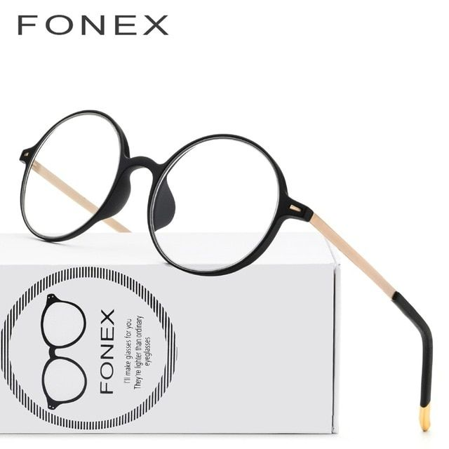 c68980fe74 TR90 Titanium Glasses Frame Men Vintage Prescription Eyeglasses Women  Myopia Optical Frames High Quality Round Screwless