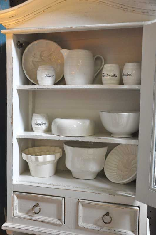 Swedish, French and German Ironstone moulds, bowls pitchers, spice containers.  All ranging from early 1800's to early 1900's.  Rorstrand and Gustavsberg from Sweden, Creil, among others from France.