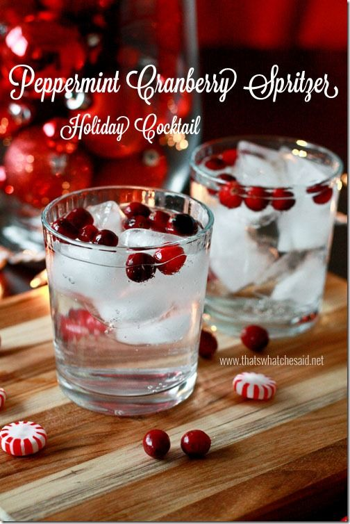 Peppermint Cranberry Spritzer + SodaStream Giveaway!