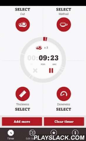 SteakMate  Android App - playslack.com ,  The SteakMate app is designed to help you cook the perfect steak – no matter how you like it. SteakMate is your best friend when barbecuing or pan-frying Beef steaks. It ensures you have a great eating experience every time and takes the guess work out of cooking Beef steaks. SteakMate is easy to use, simply enter the Beef steak you are cooking, the cooking method you are using, the doneness you are after and the thickness of your steak and SteakMate…
