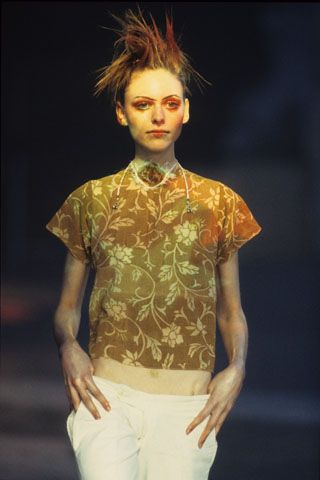 Fleet Bigwood rust-printed top, Alexander McQueen SS 1994