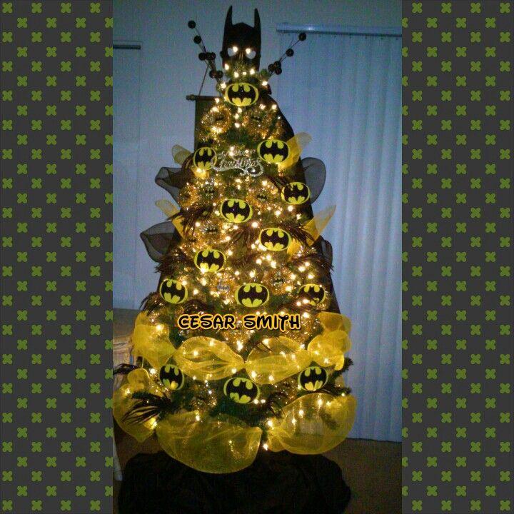 My son Christmas tree Batman theme.