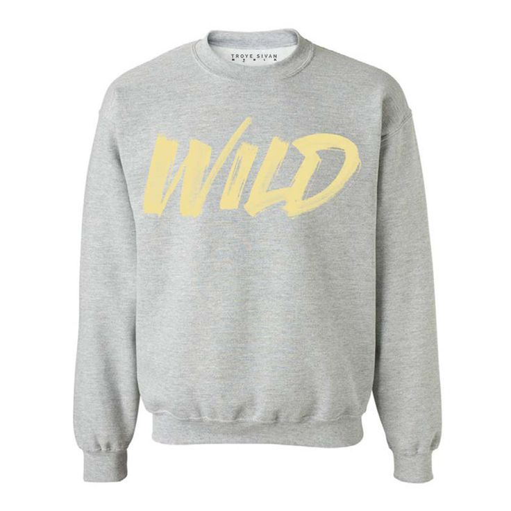 STAPLE WILD CREWNECK SWEATSHIRT. FEATURES OVERSIZED WILD SCREEN PRINT ON THE FRONT & TROYE SIVAN LOGO PRINTED ON THE BACK NECK. MACHINE WASH COLD WITH LIKE