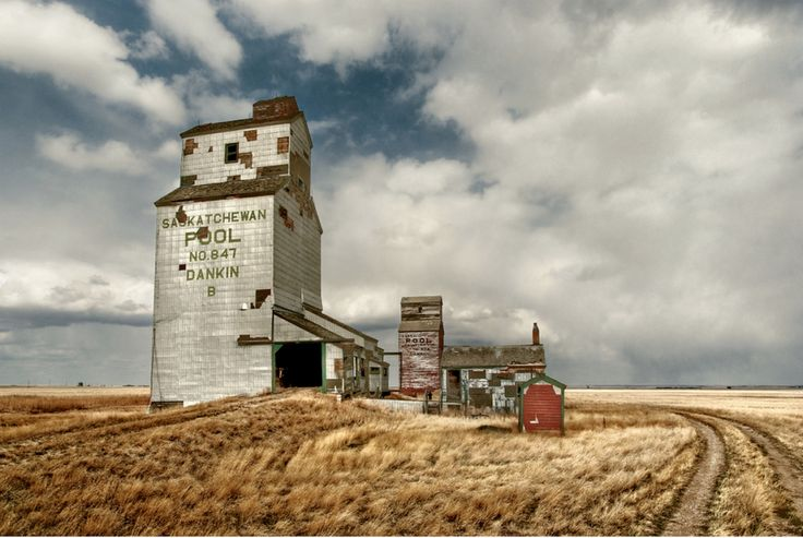 dankin, saskatchewan, canada was the site of a former saskatchewan wheat pool grain elevator that was constructed in the early 20th century by united grain growers. as the industry left, this structure remained.
