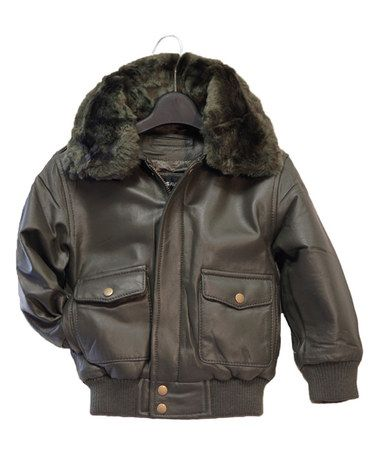 Another great find on #zulily! Olive Leather Pilot Bomber Jacket - Infant, Toddler & Kids #zulilyfinds