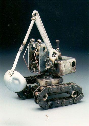 Frimmbits: Dick Cooley AKA Sparkplug Man - Sculpture