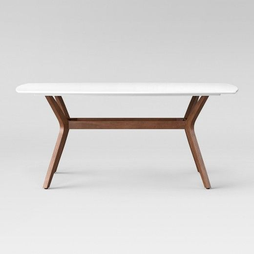 "Emmond Mid Century 72"" Dining Table White & Brown - Project 62™ : Target"