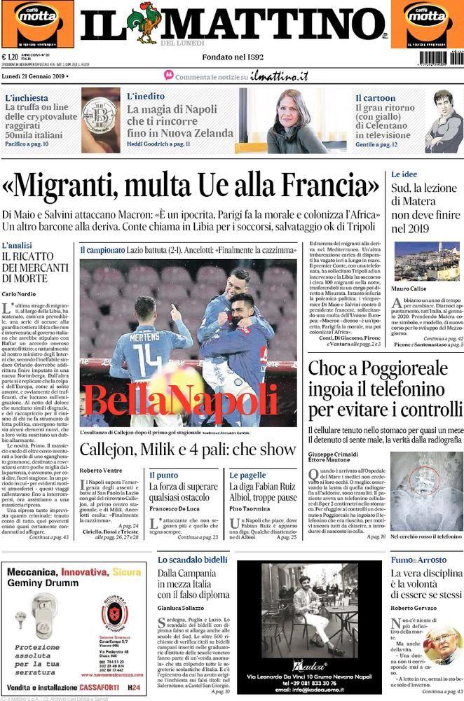 Rassegna Stampa Del 21 Gennaio 2019 Ecco Le Prime Pagine Dei Quotidiani In Edicola Oggi Stampe Gennaio Notizie