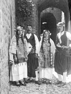 HellenicGenealogyGeek.com - Family History Research Tools for Greek Genealogy: Photograph - 1912-1928 - Villagers in Traditional Dress, Vessa, Chios
