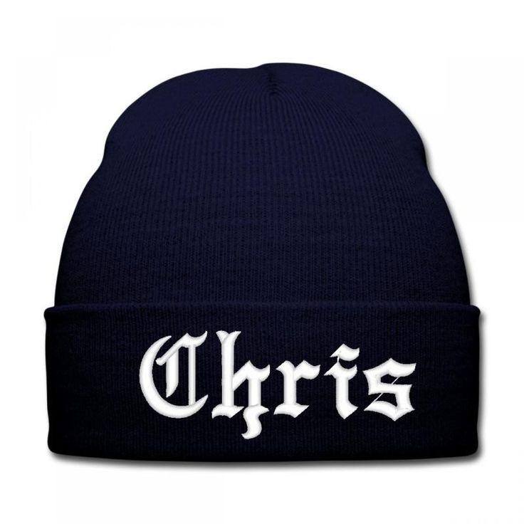 chris name Knit Cap
