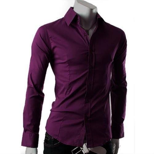 Мужская рубашка фиолетовая купить