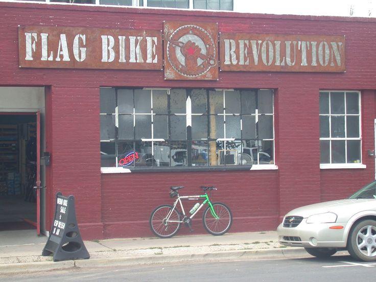 Picture flag bike revolution bike shop