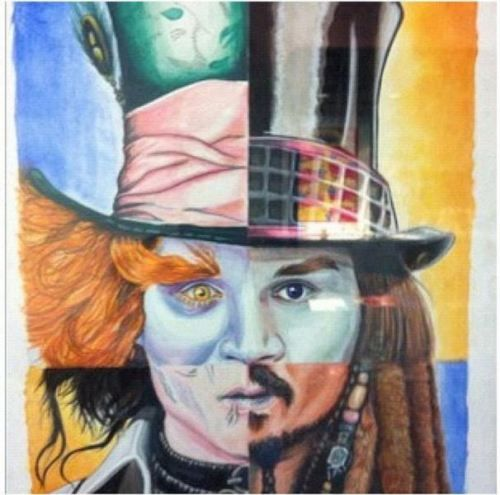 Johnny Depp as Edward Scissorhands, the Mad Hatter, Willy Wonka, and Jack Sparrow. So iconic it hurts.