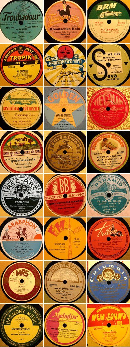 78 record labels. My aunts and older had these.  They were ending as they were heavy and 45's were popular and the lighter, 33's were coming out