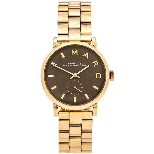 Marc by Marc Jacobs Baker Accessories (€200) ❤ liked on Polyvore featuring jewelry, watches, accessories, gioielli, marc by marc jacobs watches, marc by marc jacobs, stainless steel jewelry, water resistant watches and stainless steel watches