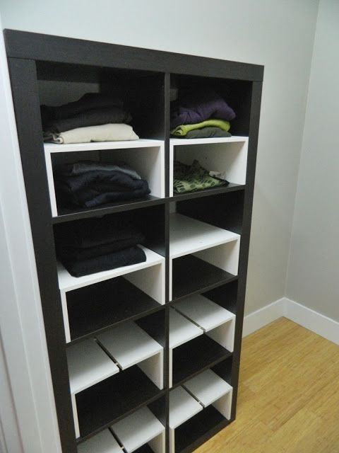 Ikea hack expedit inserts for the closet things i like - Ikea kallax flur ...