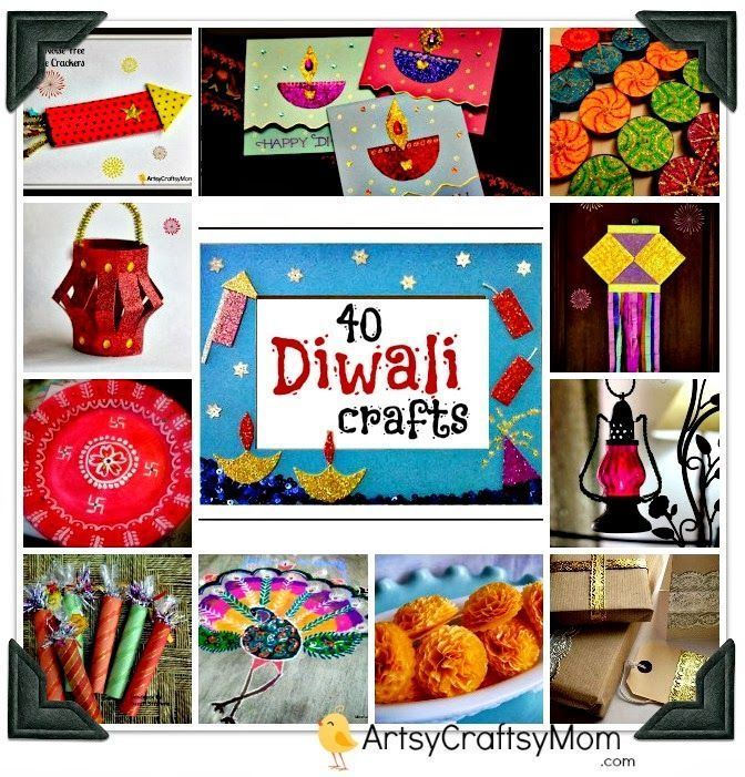 40+ Diwali Ideas - Cards, Crafts, Decor, DIY for kids to make on Festival of lights - Diwali