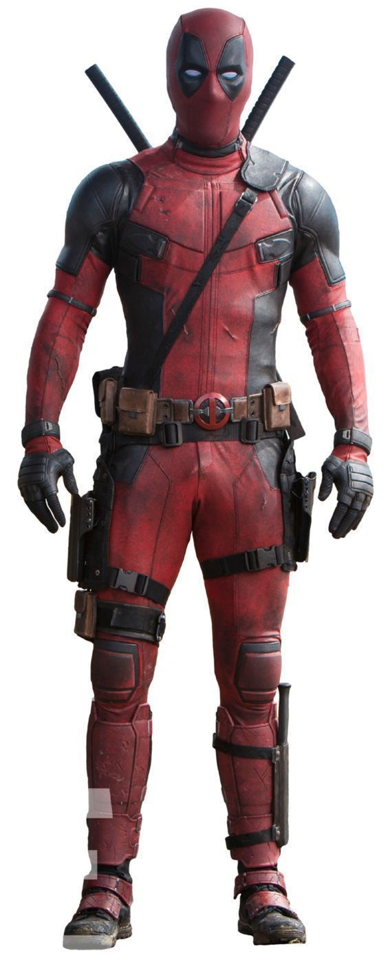 Deadpool Black Red Real Leather Suit Jacket Pants For Both Costum,Motorcycle use - Outerwear
