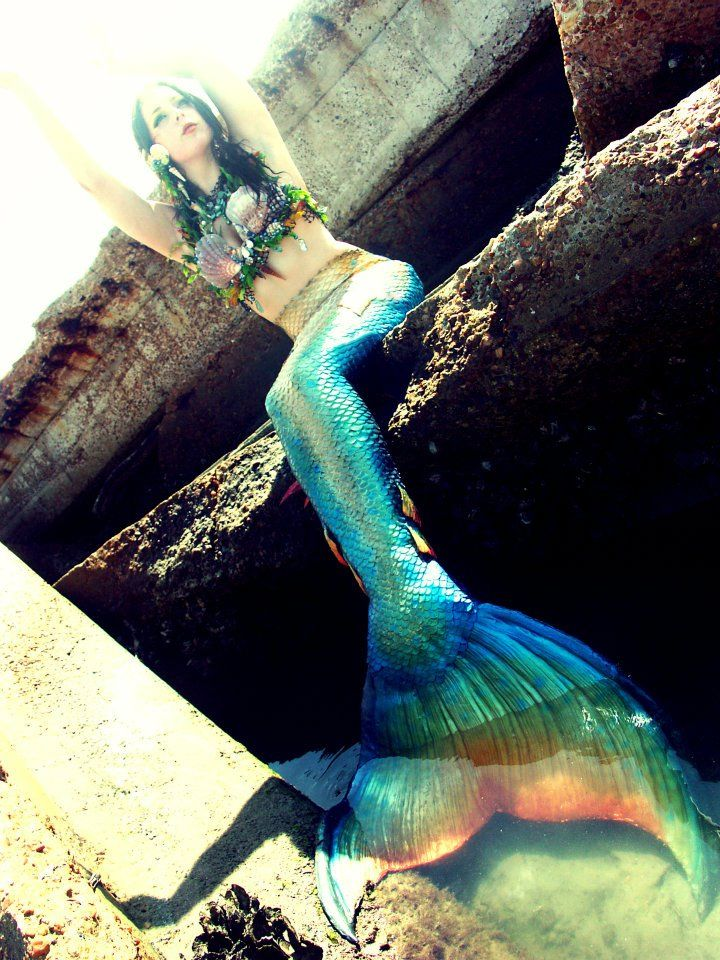 Beautiful realistic mermaid tails handmade from silicone