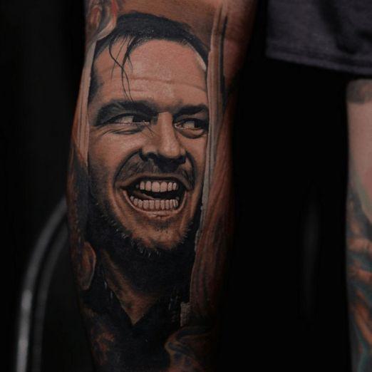 Jack Torrance, The Shining; Tattoo by Nikko Hurtado