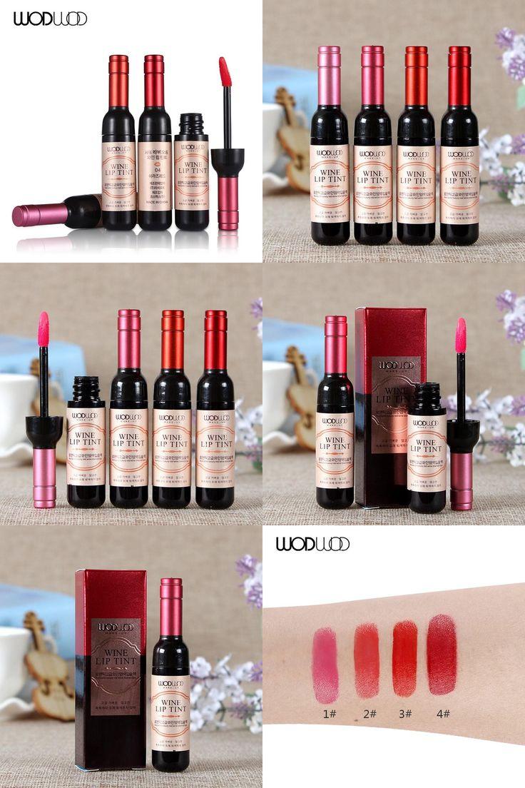 [Visit to Buy] WODWOD Brand Red Wine Lip Tint Lip Makeup Matte Lip Gloss Long Lasting Waterproof Lipgloss Moisturize Lipstick cosmetic gift 1pc #Advertisement