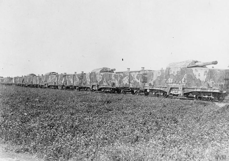 "WWI covered live on Twitter: ""French camouflaged armoured train on which are…"