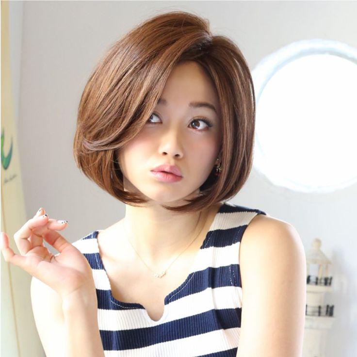 髪型(ヘアスタイル) ボブストレートの前髪なしやレイヤーで大人女子に変身! | GetBeauty