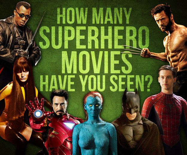 How Many Superhero Movies Have You Seen? I've seen 54/132. But in my defense, a lot of the ones listed shouldn't count as superhero movies (TMNT movies, Jonah Hex, etc)