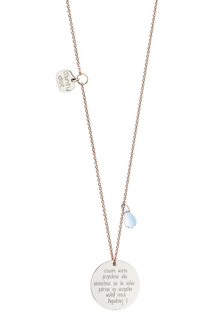 Kolekcja Dream, rodowane srebro z błękitnym topazem <3