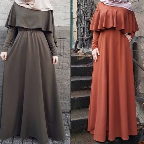 Maxi dresses with hijab styles – Just Trendy Girls