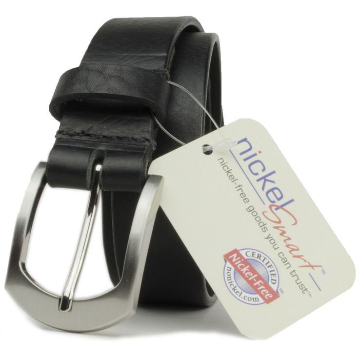 Guaranteed to never test positive for nickel, black leather belt is answer for nickel allergy rash