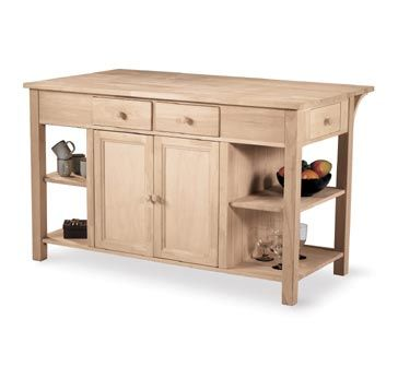 kitchen island unfinished wood for the home pinterest solid wood unfinished butcher block kitchen island fast