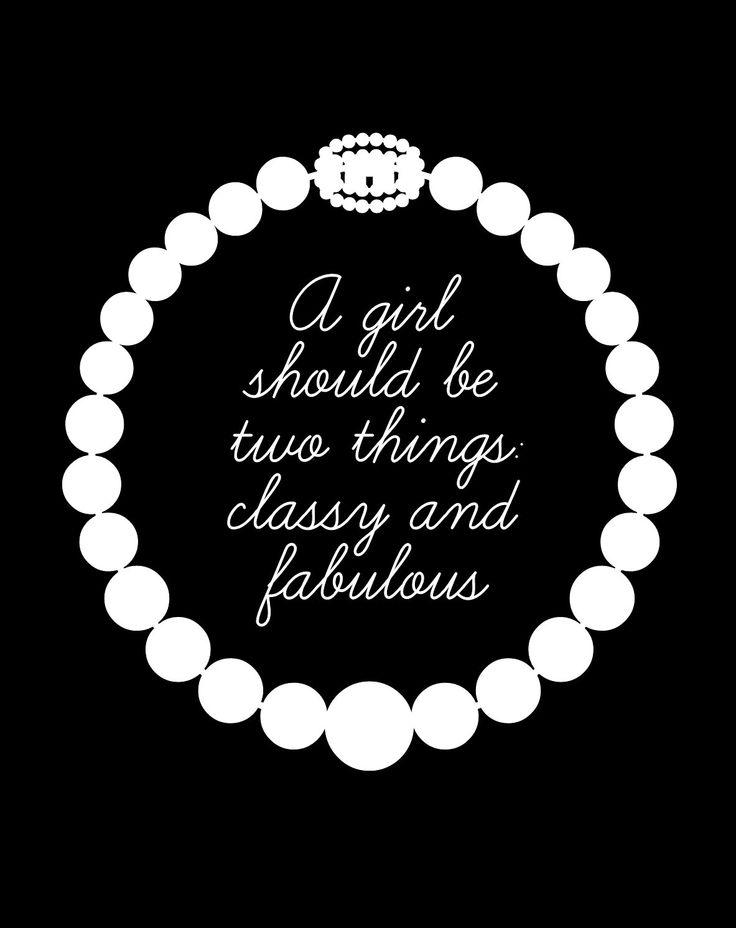 Classy Fabulous Girl Coco Chanel Quote Pearls ...