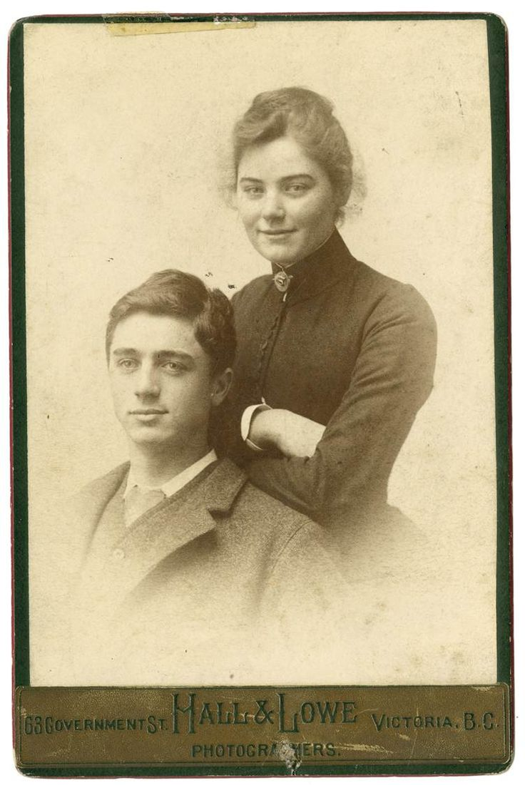 Emily (Millie) and her brother Dick Carr, 1889 or 1890