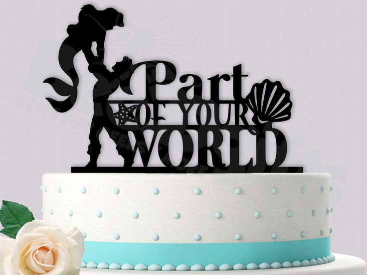 disney world wedding cake toppers ariel and eric wedding cake topper part of your world 13601