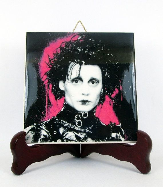 Edward Scissorhands High Quality Ceramic Tile  by TerryTiles2014