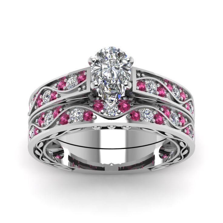 Popular Antique Wedding Ring Set Big DiamondsEmerald Cut DiamondsPrincess